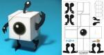 Paper Toy Tetrobot de Josh Buczynski