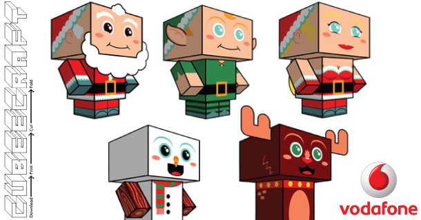 Blog_Paper_Toy_papertoys_Christmas_Clones_series_Cubeecraft