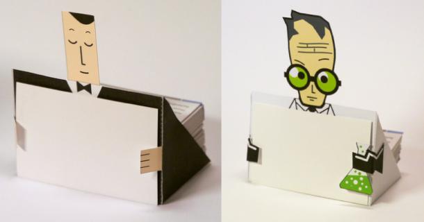 Porte Cartes De Visite En Papercraft