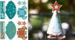 Sapins de Noël en papertoy (x 3)