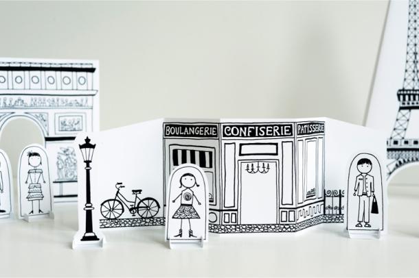 Blog Paper Toy papercraft Paper City Paris Joel pic2 Paper City Paris   Made by Joel