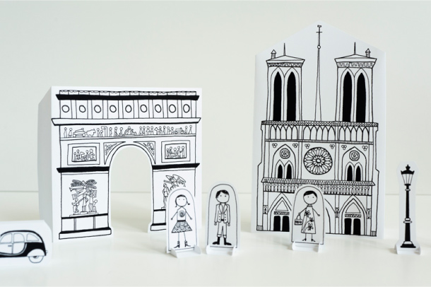 Blog Paper Toy papercraft Paper City Paris Joel pic3 Paper City Paris   Made by Joel