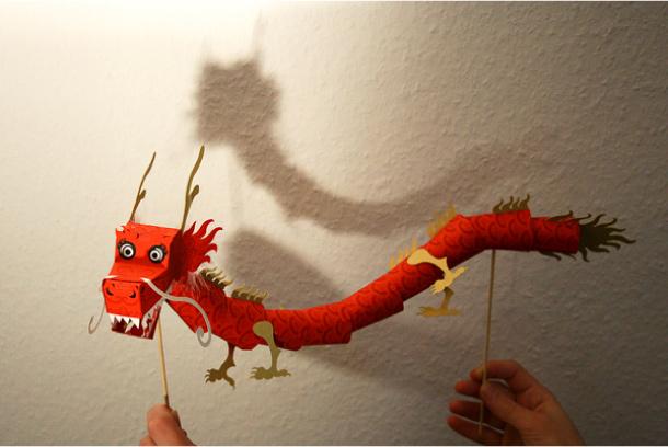 Дракон своими руками из картона