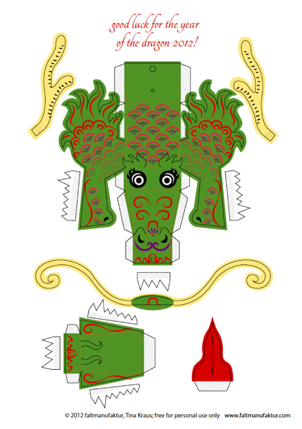 Paper craft new 584 papercraft dragon template for Cardboard dragon template