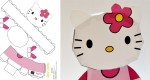 Papertoy Hello Kitty de Bamboogila