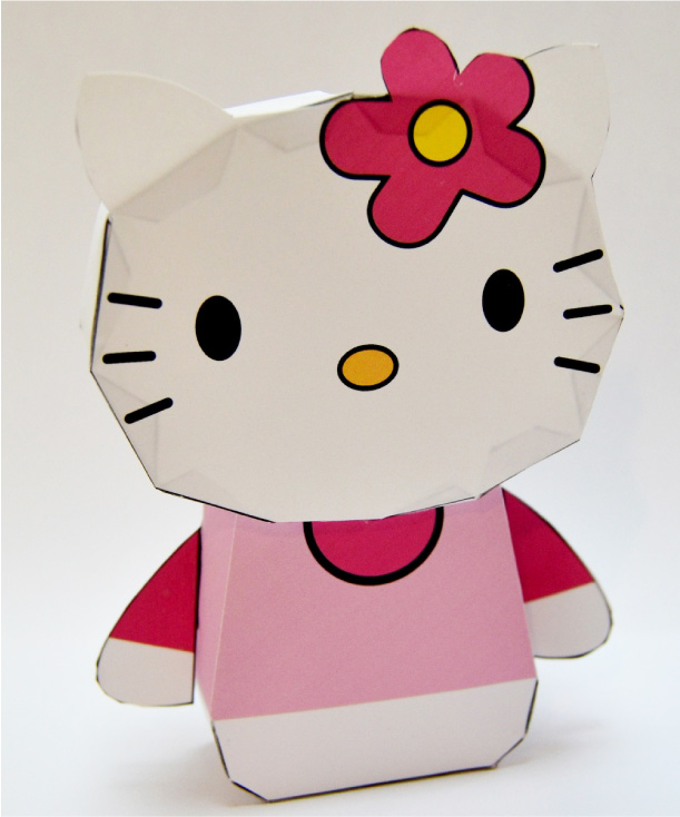 Blog Paper Toy Papertoy Hello Kitty Template Preview Cubeecraft Hello Picture