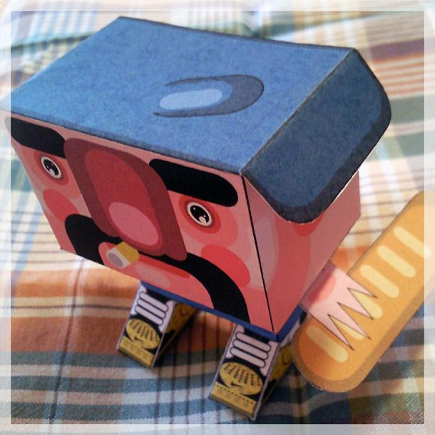 Blog Paper Toy papertoy Gubi Gubi Marcel pic1 Gubi Gubi Marcel de Jerom