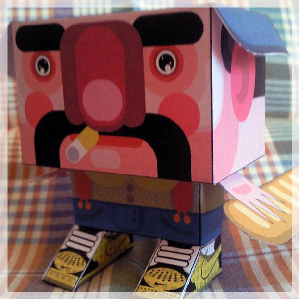 Blog Paper Toy papertoy Gubi Gubi Marcel pic2 Gubi Gubi Marcel de Jerom