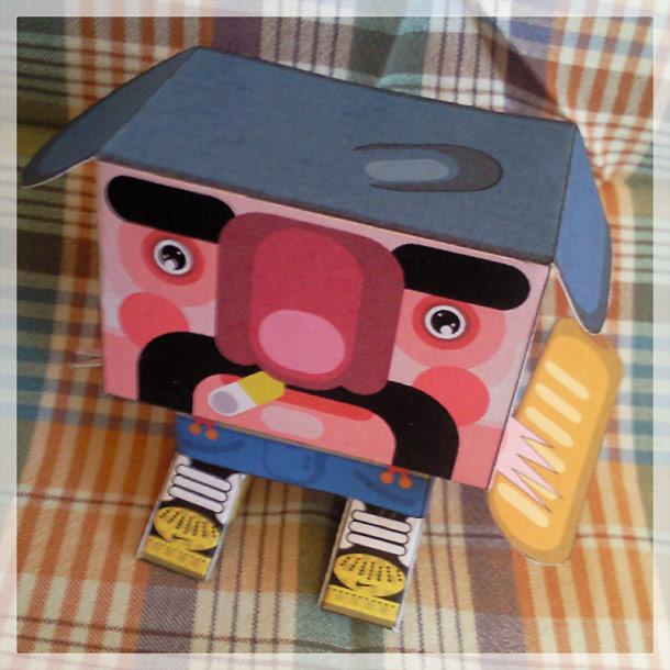 Blog Paper Toy papertoy Gubi Gubi Marcel pic4 Gubi Gubi Marcel de Jerom