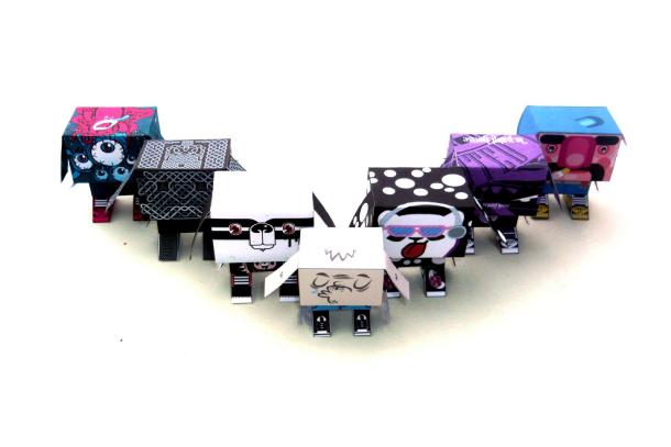 Blog Paper Toy papertoy Gubi Gubi serie francaise Gubi Gubi Marcel de Jerom