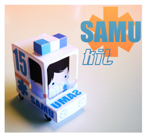 Blog Paper Toy papertoy Kit SAMU pic SAMU Kit de Scott Charron