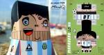 Papertoy de Maradona par Mau Russo
