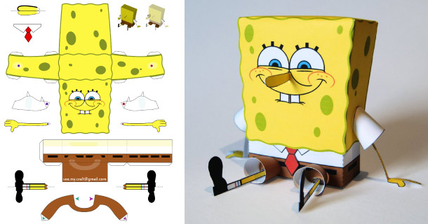 Blog_Paper_Toy_papertoy_Spongebob_Philipp_S