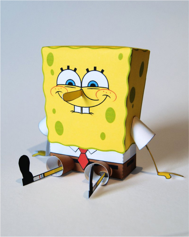 Blog Paper Toy papertoy Spongebob pic Papertoy de Bob lponge