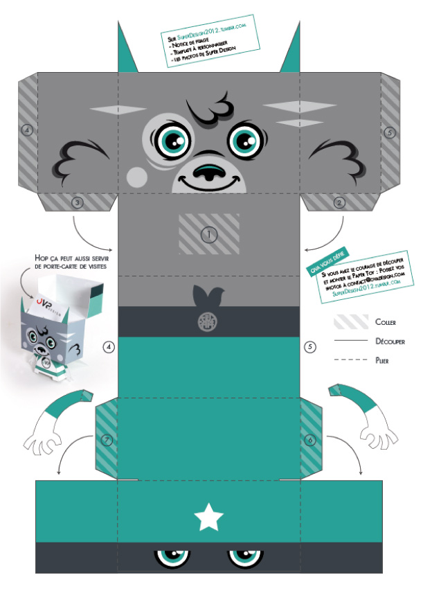 Blog Paper Toy papertoy Super Innovation template preview Super Innovation de FAKIR (OVA Design)