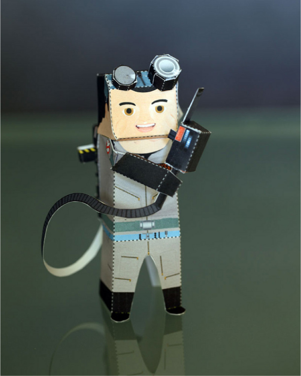 Blog Paper Toy papertoys Ghostbusters pic1 Papertoys SOS Fantômes (x 3)