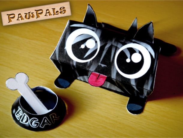 Blog Paper Toy papertoys PawPals Edgar pic Papertoys PawPals de Zakane (x 4)