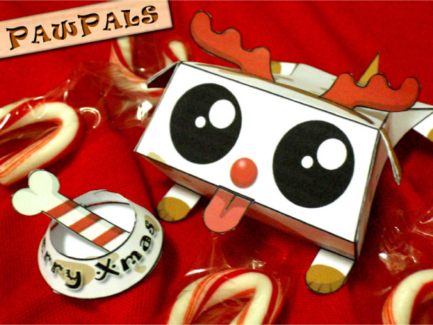 Blog Paper Toy papertoys PawPals Xmas pic Papertoys PawPals de Zakane (x 4)