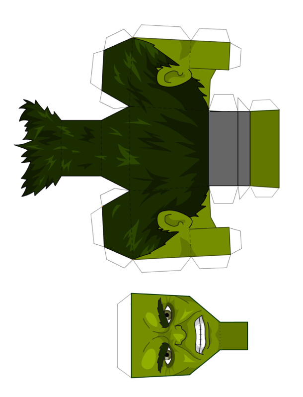 Как из бумаги сделать халка из