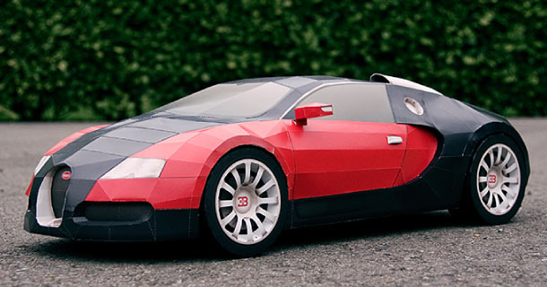bugatti veyron en papercraft paper. Black Bedroom Furniture Sets. Home Design Ideas