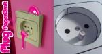 Prise électrique en papercraft