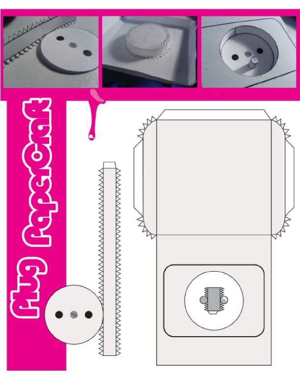 Blog Paper Toy papercraft Prise Electrique template preview Prise électrique en papercraft