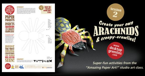 Blog_Paper_Toy_papertoy_Arachnids_Desktop_Gremlins