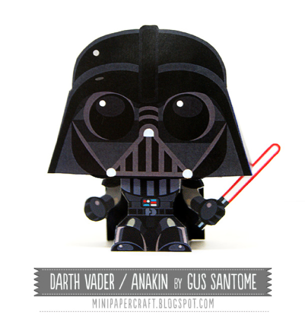 Star Wars Mini Darth Vader Papertoy Paper Toy