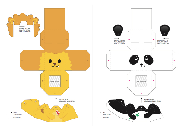 Blog Paper Toy papertoys Finger Puppets Salazad Animals Serie template preview 2 20 Finger Puppet papertoys