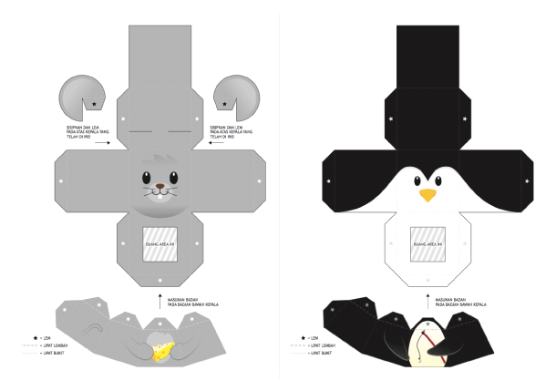 Blog Paper Toy papertoys Finger Puppets Salazad Animals Serie template preview 5 20 Finger Puppet papertoys