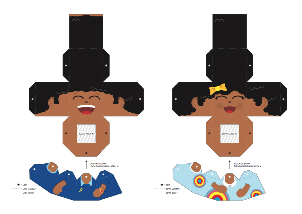 Blog Paper Toy papertoys Finger Puppets Salazad People Serie template preview 3 20 Finger Puppet papertoys