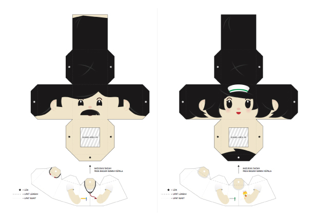 Blog Paper Toy papertoys Finger Puppets Salazad People Serie template preview 4 20 Finger Puppet papertoys