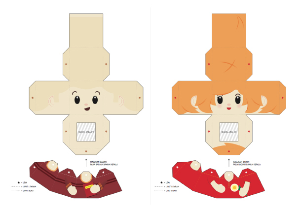 Blog Paper Toy papertoys Finger Puppets Salazad People Serie template preview 5 20 Finger Puppet papertoys