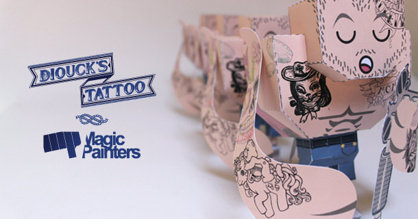 Blog_Paper_Toy_Dioucks_Tattoo_Magic_Painters