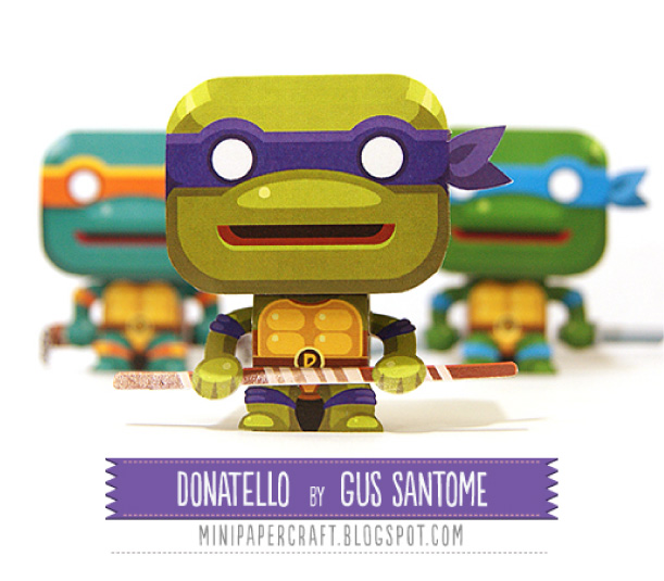 Blog Paper Toy papertoy Donatello pic Mini Donatello de Gus Santome
