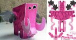 Pink Mammuthus papertoy de Jerom