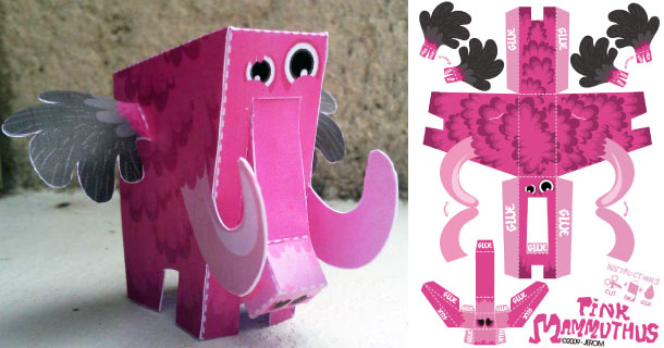 Blog_Paper_Toy_papertoy_Pink_Mammuthus_Jerom