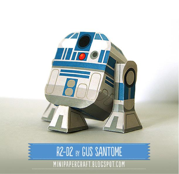 Maqueta 3D de R2D2. Manulaidades a Raudales.