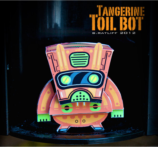 Blog Paper Toy papertoy Toilbot pic2 Tangerine Toil Bot de Chemical 9