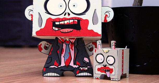 Blog_Paper_Toy_papertoys_Zombie_and_Buddy_Jennifer_Rouse
