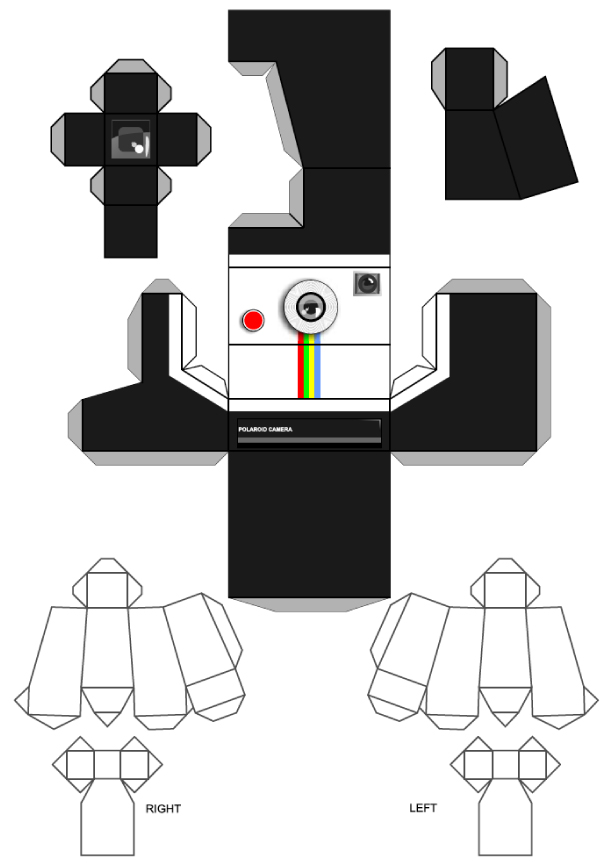 Blog Paper Toy Polaroid paper toy template preview Polaroid Paper Toy