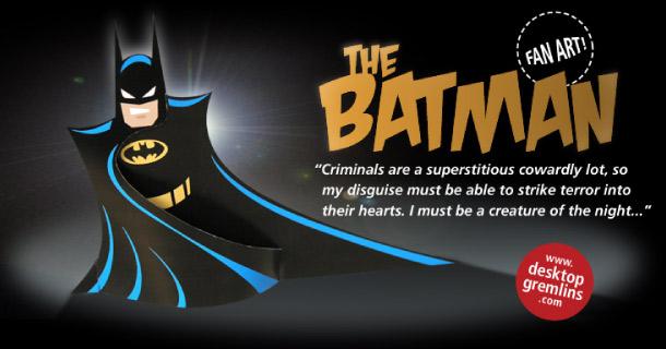Blog_Paper_Toy_papercraft_Batman_Desktop_Gremlins