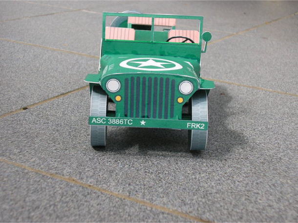 Blog Paper Toy papercraft Jeep pic1 Jeep Willys en papercraft