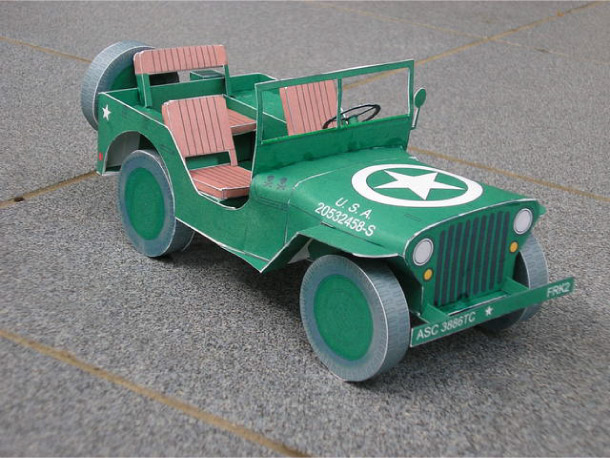 Blog Paper Toy papercraft Jeep pic2 Jeep Willys en papercraft