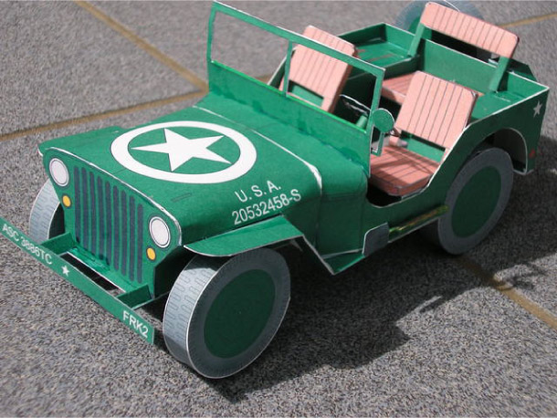 Blog Paper Toy papercraft Jeep pic4 Jeep Willys en papercraft