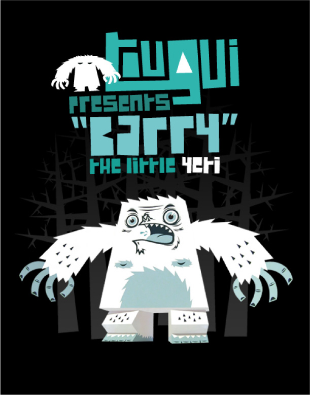 Blog Paper Toy papertoy Barry Yeti pic Barry : The little Yeti by Tougui