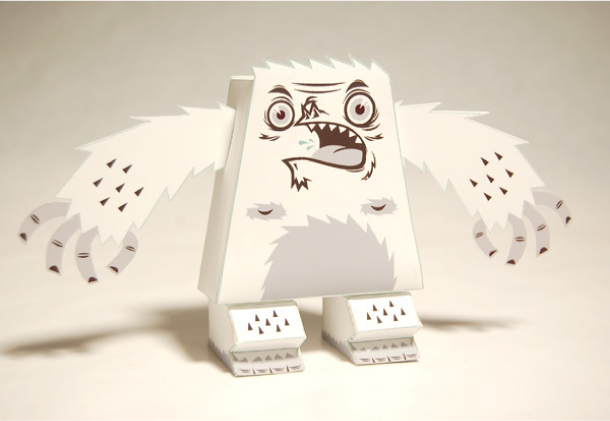 Blog Paper Toy papertoy Barry Yeti pic2 Barry : The little Yeti by Tougui