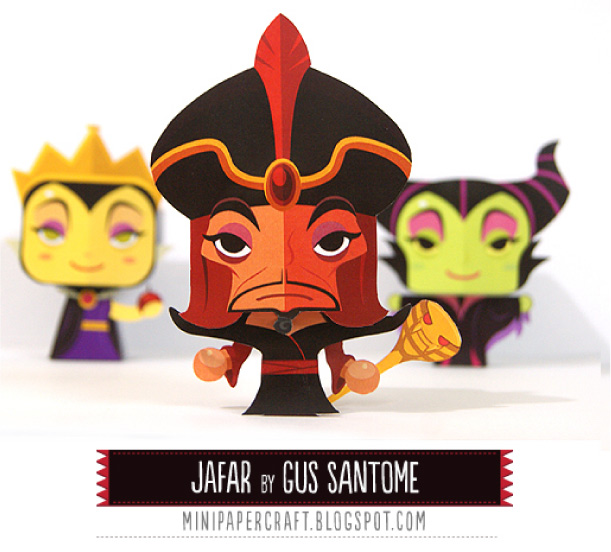 Blog Paper Toy papertoy Jafar pic Disney Villains papertoys   Jafar