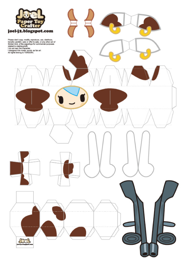 Blog Paper Toy papertoy Mozzarella template preview Papertoy Mozzarella de JoeL