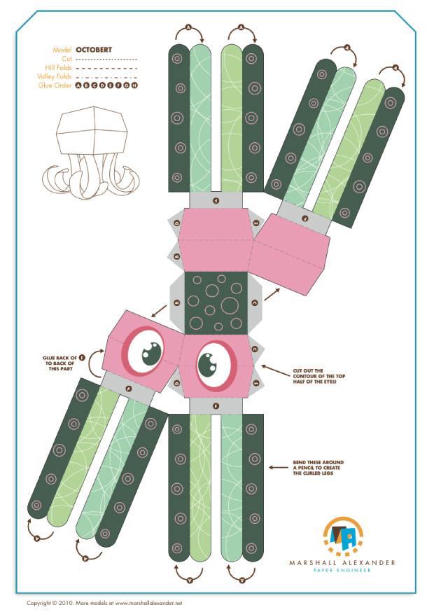 Blog Paper Toy papertoy Octobert template preview Octobert de Marshall Alexander